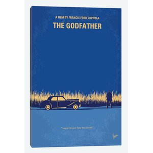 'The Godfather Minimal Movie Poster' Advertisement on Wrapped Canvas by East Urban Home