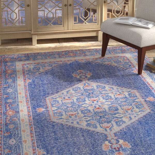 Fender Hand-Knotted Blue Area Rug by Bloomsbury Market