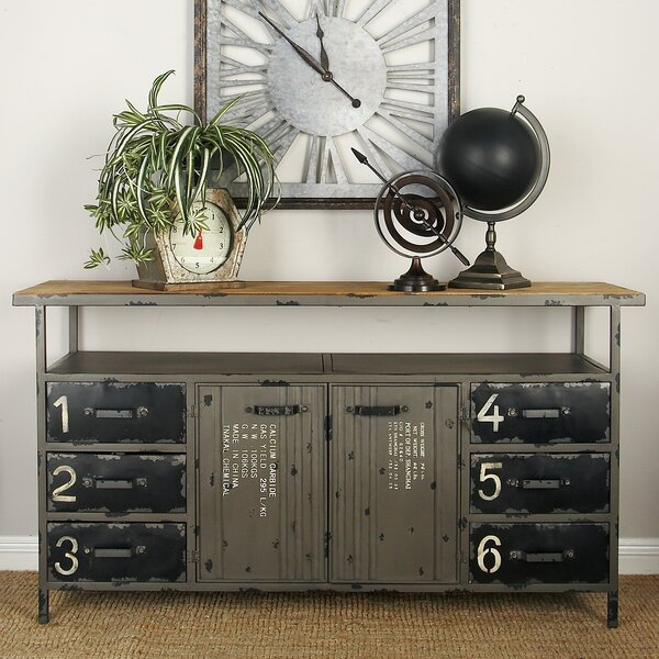 Metal and Wood Sideboard by Cole & Grey Cole & Grey