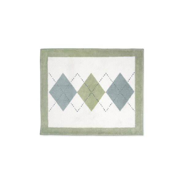 Argyle White Floor Area Rug by Sweet Jojo Designs