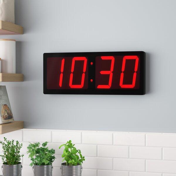 Hibner Huge 5 Black Numbers LED Clock by Symple Stuff