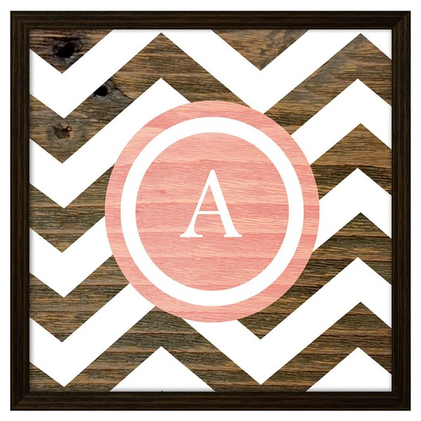 Personalized Graphic Art Print in Pink by PTM Images