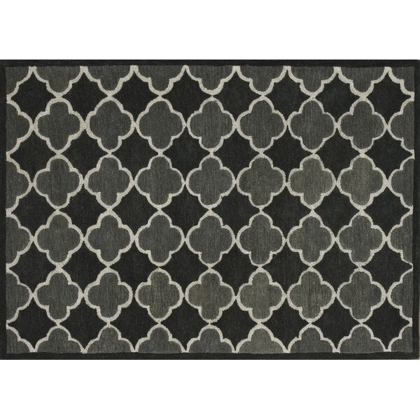 Dandridge Hand-Tufted Black/Gray Area Rug by Wrought Studio