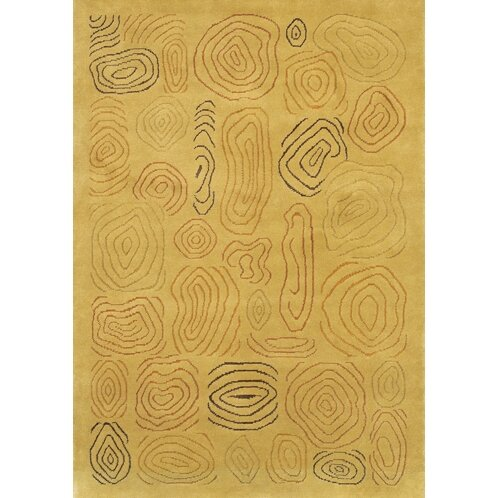 Caines Hand Woven Gold/Yellow Area Rug by Fleur De Lis Living