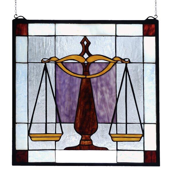 Americana Judicial Stained Glass Window by Meyda Tiffany