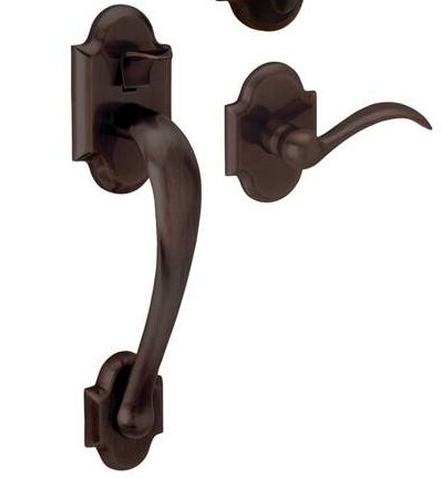 Boulder Handleset with Interior Lever and Sectional Trim, Less Deadbolt by Baldwin