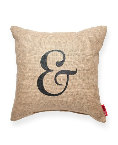 Almonte Ampersand Burlap Jute Throw Pillow by Three Posts