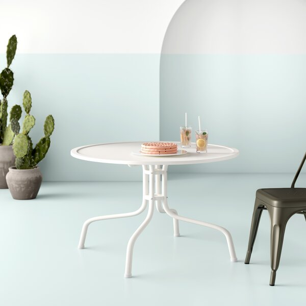 Karim Steel Dining Table by Wrought Studio