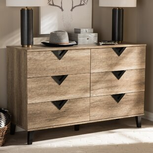 Elio 6 Drawer Double Dresser
