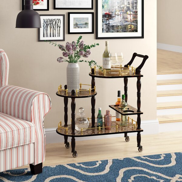 Kellam 3-Tier Bar Cart by Astoria Grand