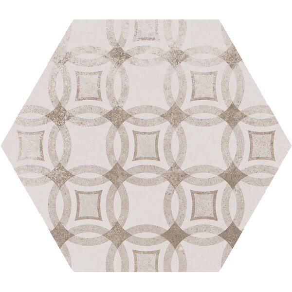 Kenzzi Hexagon 7 x 8 Porcelain in Mixana Gray by MSI