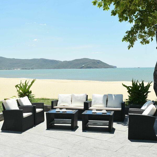Marsboro 8 Piece Sofa Seating Group with Cushions by Ebern Designs