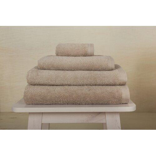 3-tlg. Handtuch Komplett-Set Maranda Ebern Designs Farbe: Taupe | Bad | Ebern Designs
