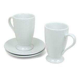 Coffee Bar 10 oz. Irish Coffee Cup and Saucer (Set of 2) by Konitz
