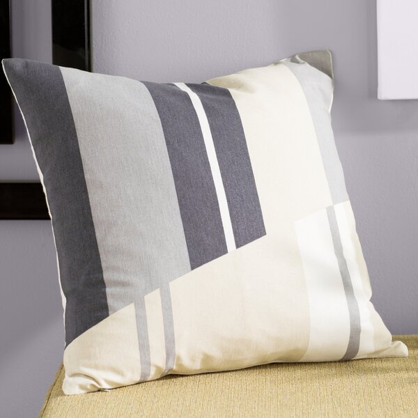 Clio Striped Cotton Throw Pillow by Ivy Bronx