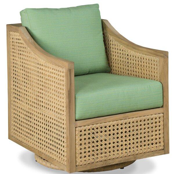 Jupiter Teak Swivel Patio Chair with Sunbrella Cushions by Woodbridge Furniture Woodbridge Furniture