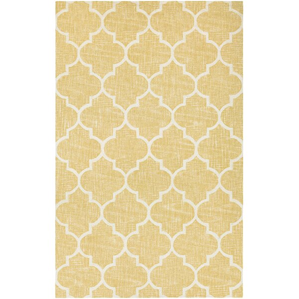 Lissette Hand-Woven Gold/Ivory Area Rug by Darby Home Co