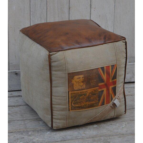 Kinnear Leather Pouf by Williston Forge