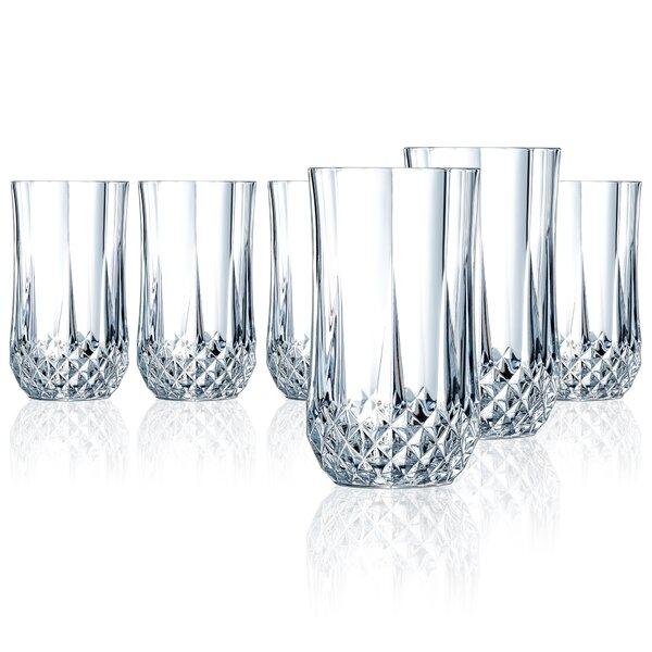 Pospisil 12 oz. Crystal Highball Glasses (Set of 6) by Astoria Grand