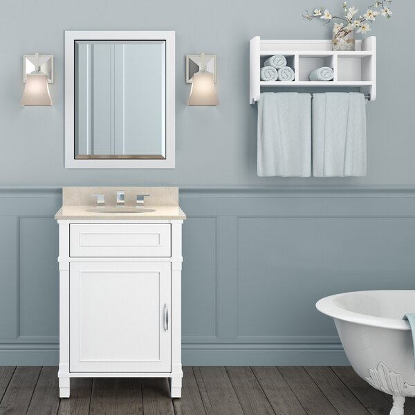 Williamsburg 25 Single Bathroom Vanity with Mirror and Shelf by Alaterre