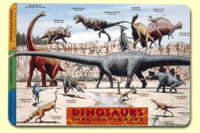 Dinosaurs Placemat (Set of 4) by Painless Learning Placemats