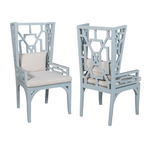 Ibis Wing Back Arm Chair (Set of 2) by Bay Isle Home