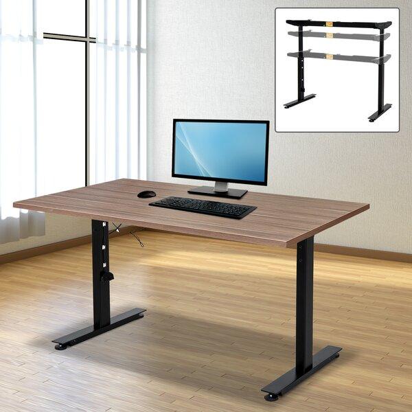 Ergonomic Electric Height-Adjustable Standing Desk Converter Frame by Symple Stuff