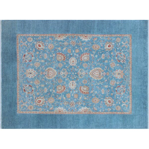 Rosewood Hand-Knotted Blue Area Rug by Canora Grey