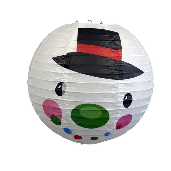 Frosty Snowman Christmas Holiday Paper Lantern by The Paper Lantern Store
