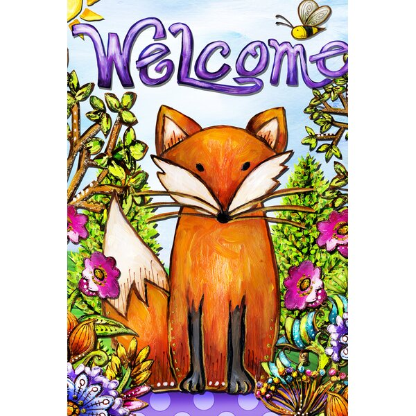 Welcome Fox 2-Sided Garden flag by Toland Home Garden