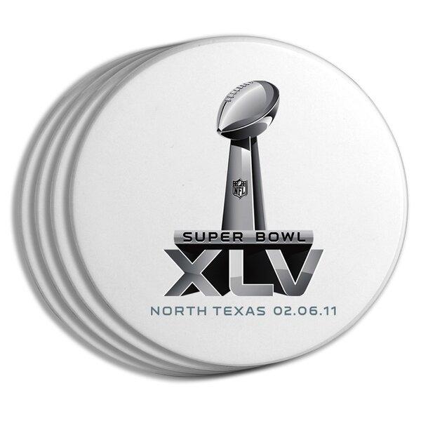 2011 Super Bowl Logo Coaster (Set of 4) by The Memory Company