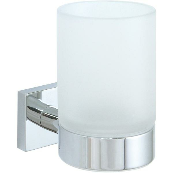 Soriano Wall Frosted Glass Toothbrush Holder by Orren Ellis