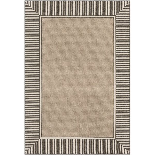 Oliver Camel/Black Indoor/Outdoor Area Rug by Bay Isle Home