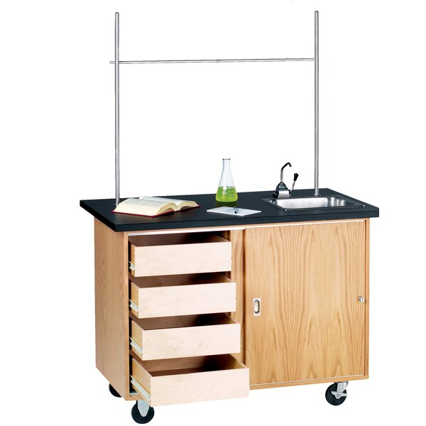 Mobile Demonstration Table With Drawers by Diversified Woodcrafts