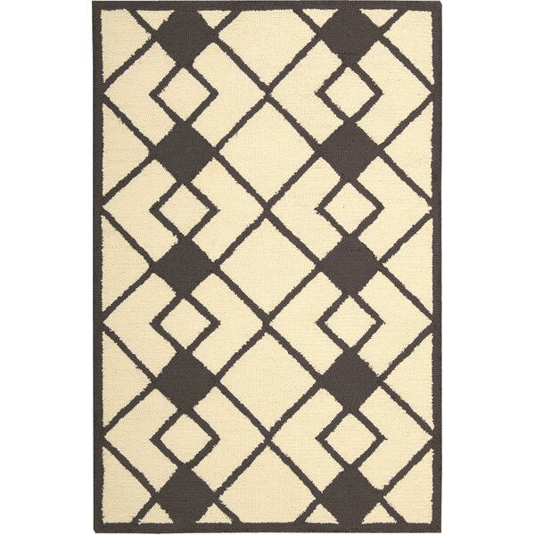 LaGuardia Hand-Tufted Ivory/Gray Area Rug by Wrought Studio