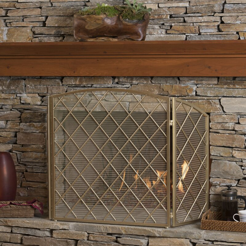 iron squares fireplace by silver home fire dessau screen antique