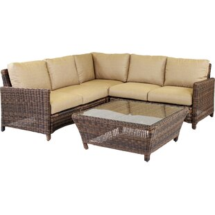 Wilkinson 5 Piece Sectional with Cushion By Charlton Home