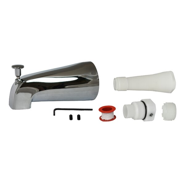 Plumbpak Handle Wall Mounted Tub Spout Trim With Diverter By Keeney