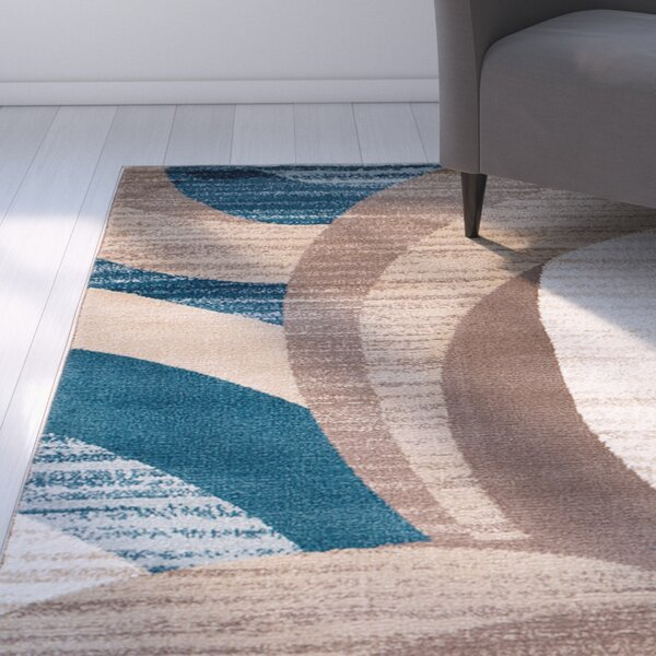 Rick Blue/Brown Area Rug by Zipcode Design