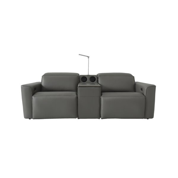 Review Gen Z Reclining 91.35'' Square Arm Sofa