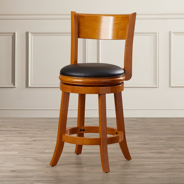 Shiloh 24 Swivel Bar Stool by Alcott Hill