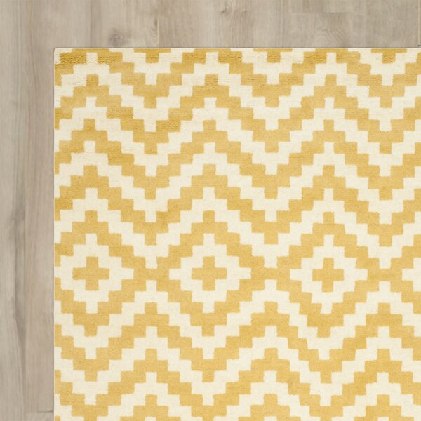 Dodge Ivory / Gold Area Rug by Wrought Studio