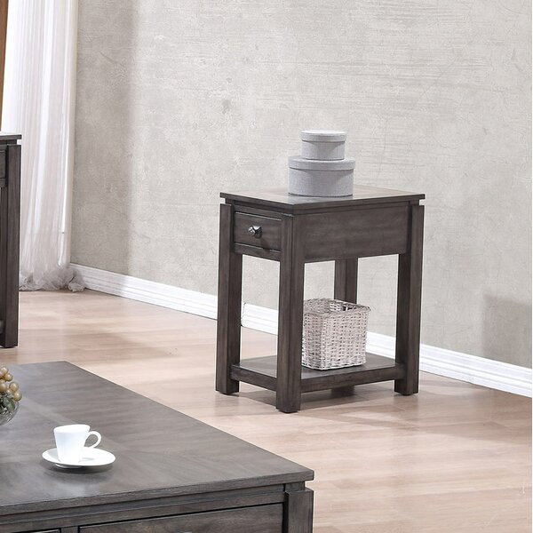 Cashel End Table by Gracie Oaks
