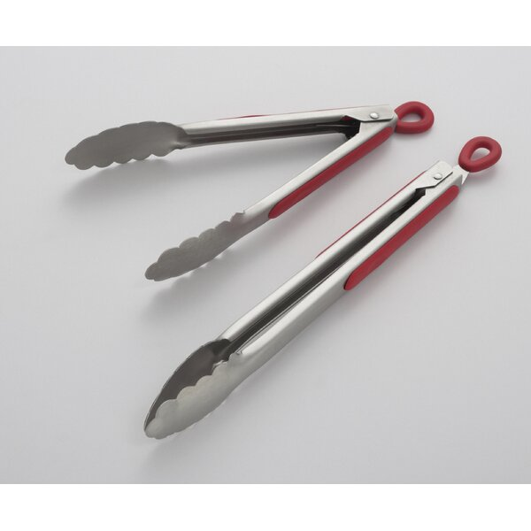 2-Pieces Professional Stainless Steel Tong by Cooks on Fire