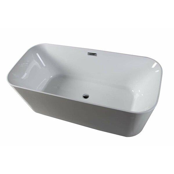 Lyon 59 x 29 Freestanding Soaking Bathtub by Dyconn Faucet