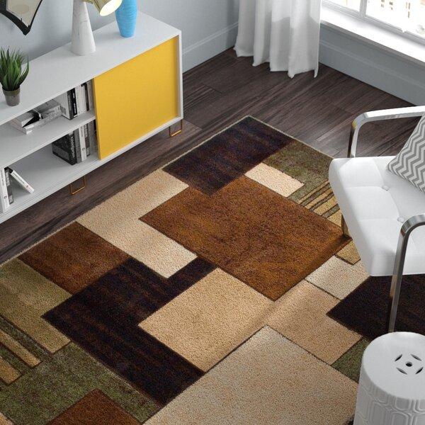 Nolan Brown/Green Area Rug by Zipcode Design