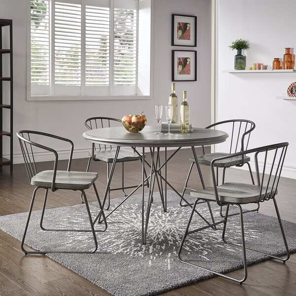 Timmins Iron 5 Piece Dining Set by Williston Forge