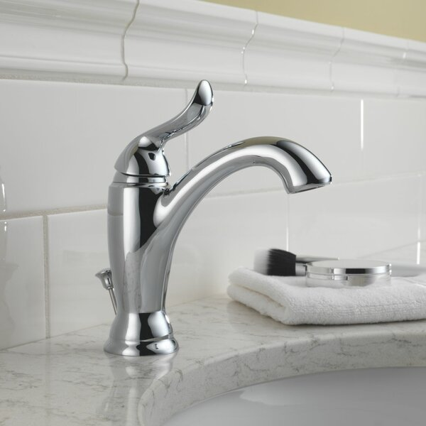 Linden Single Bathroom Faucet with Drain Assembly and Diamond Seal Technology by Delta