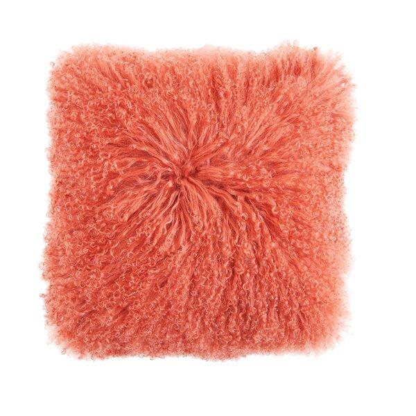 Eileen Mongolian Lamb Fur Throw Pillow By Brayden Studio.