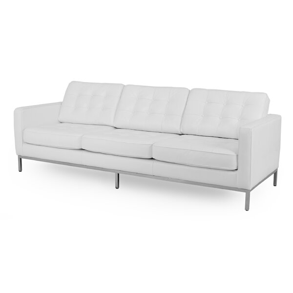 Agostini Mid-Century Leather Sofa by Corrigan Studio
